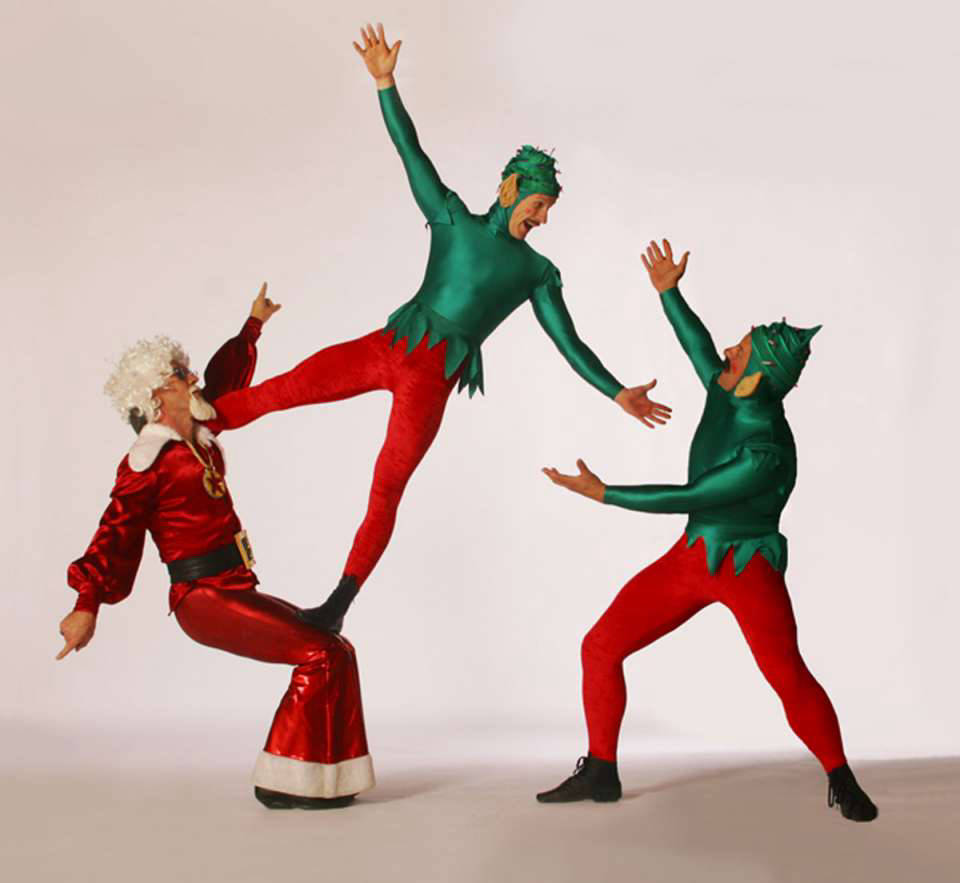 Acrobalance Elves and Santa