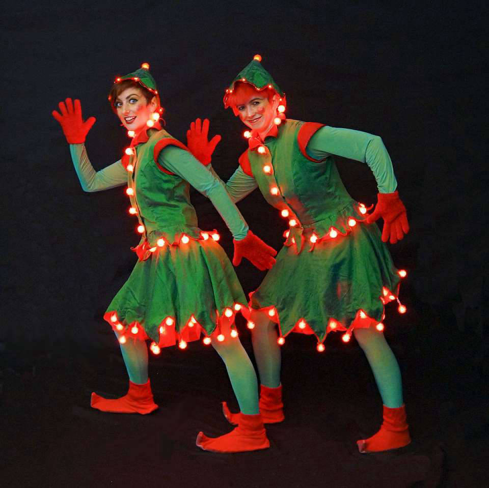 Elf Roller Skaters with LED Lights