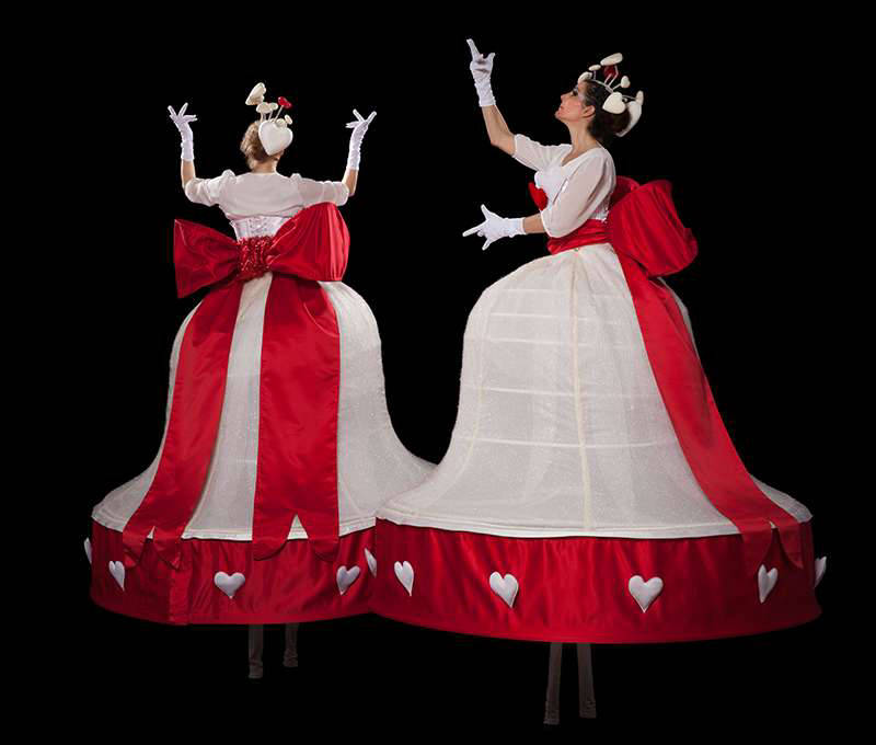 Christmas Belles Stilt Walkers