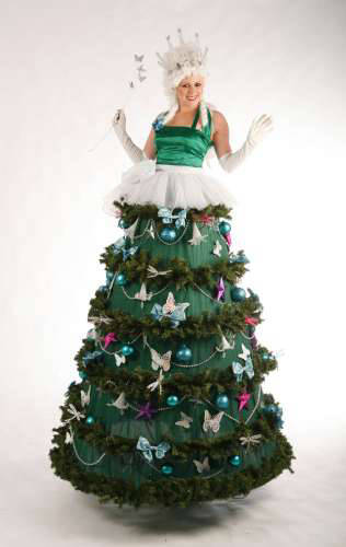 Christmas Tree Stilt Walker