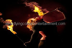 Fire Performers for Christmas events