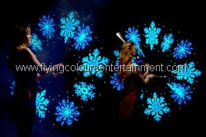 Glow LED light acts for Christmas events