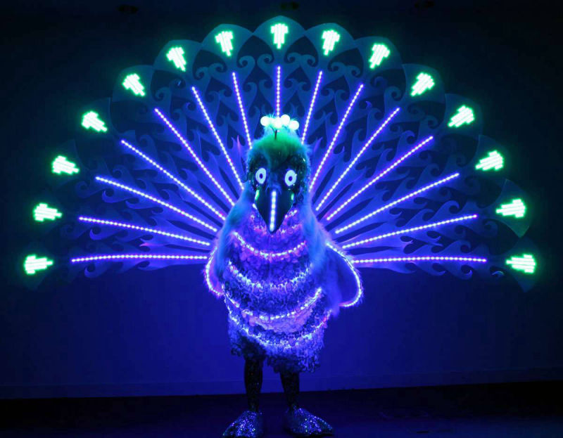 Glow LED Peacock Act