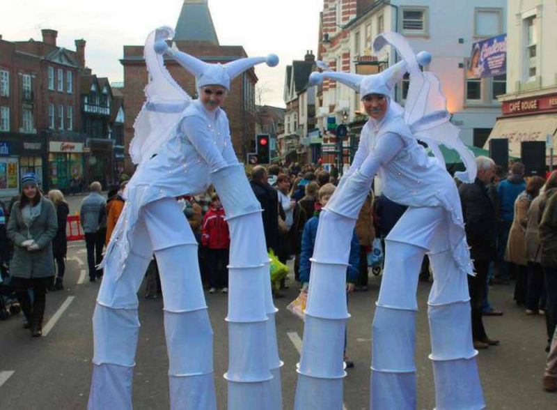 Ice Butterflies Stilt Walkers
