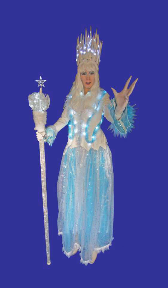 Ice Queen Stilt Walker