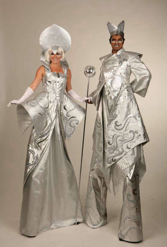 Regal Silver Stilt Walkers