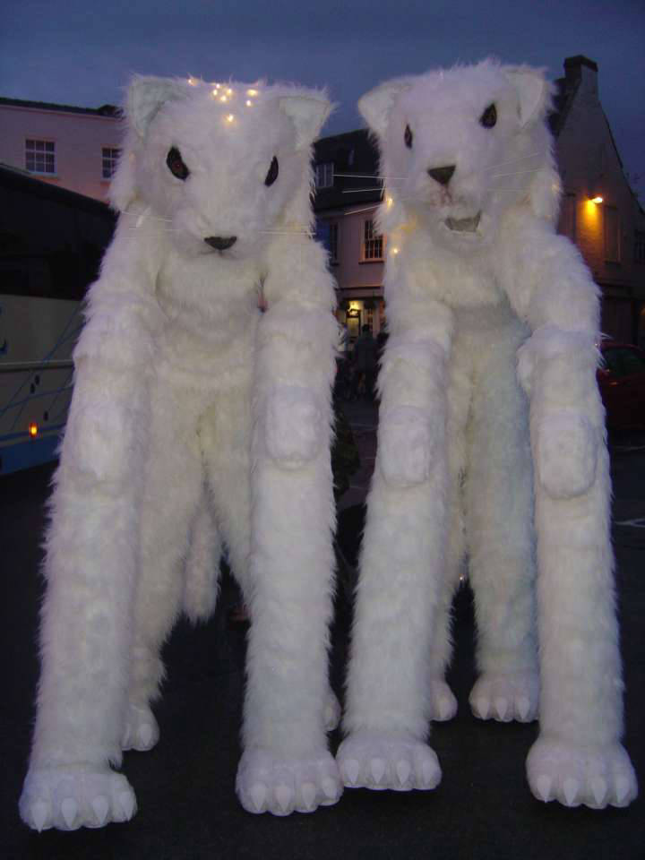 Winter Cats Stilt Walkers