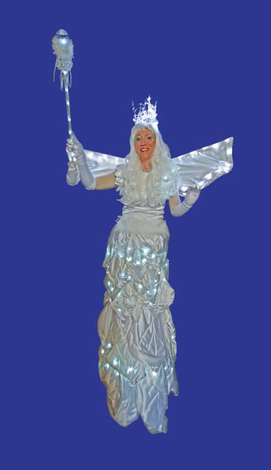 Icicle Bicycle Stilt Walker
