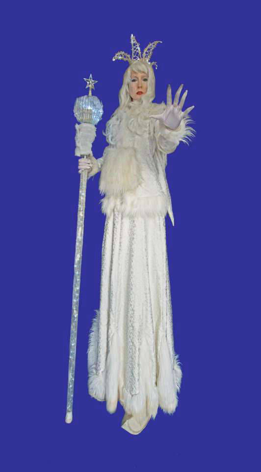 Snow Queen Stilt Walker