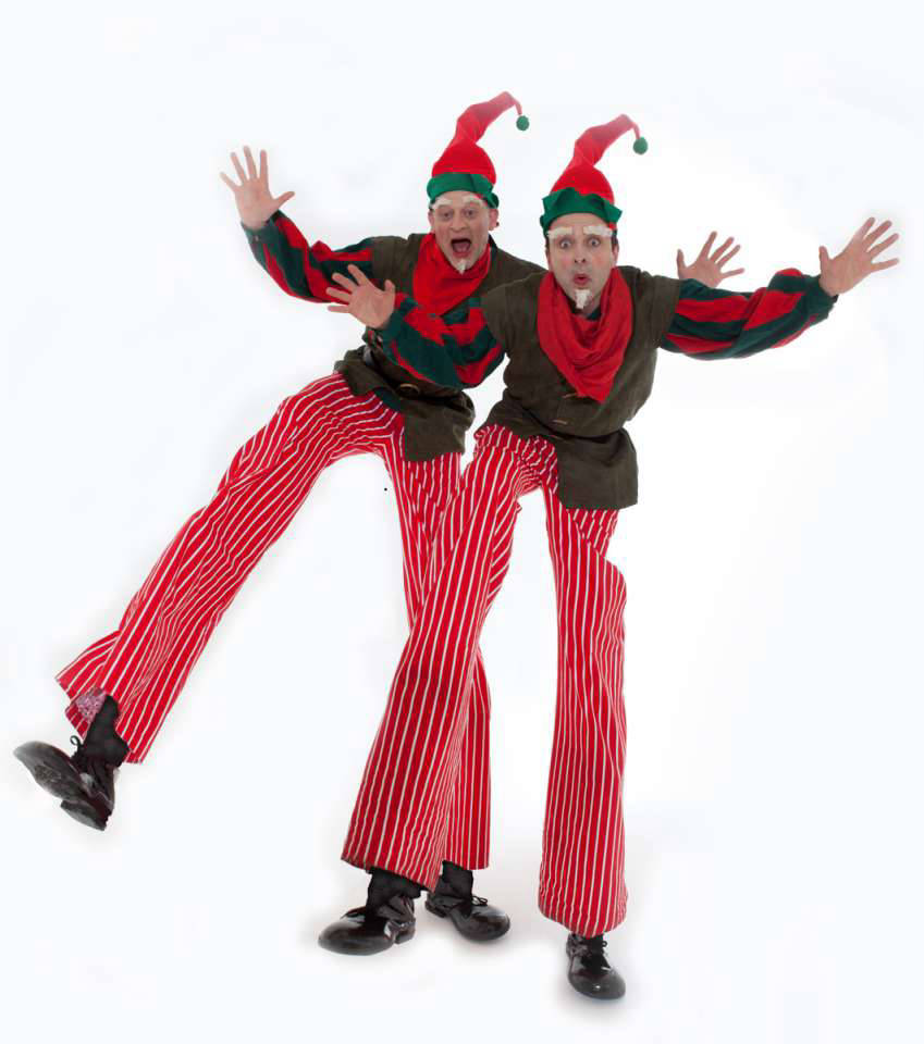 Christmas Elves Stilt Walkers