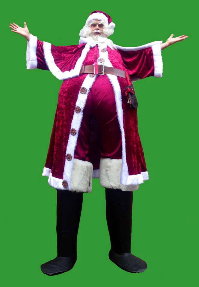 Giant Santa Stilt Walker