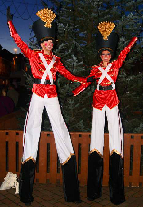 Toy Soldier Stilt Walkers